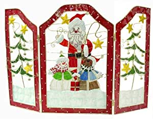 """Amazon 30"""" Santa & Snowman Stained Glass Inspired"""