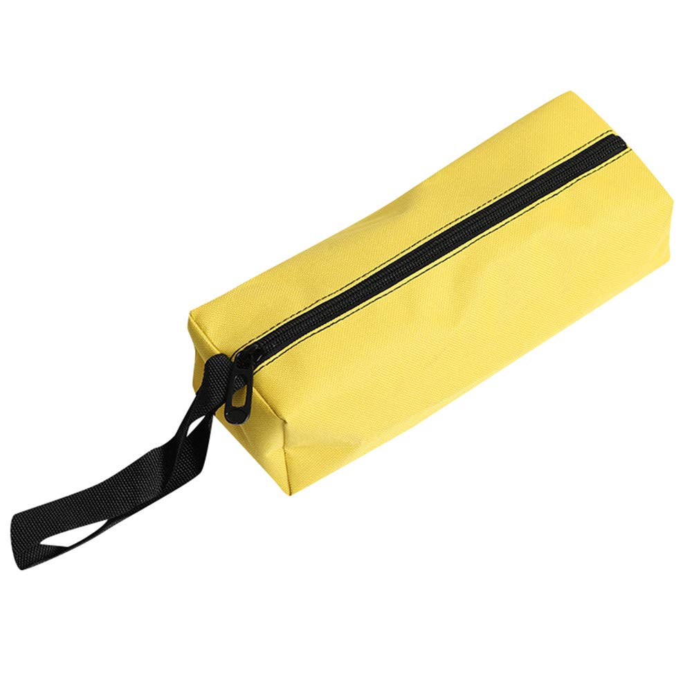 Alimao Zipper Tool Bag Pouch Organize Storage Small Parts Hand Tool Plumber Electrician Yellow