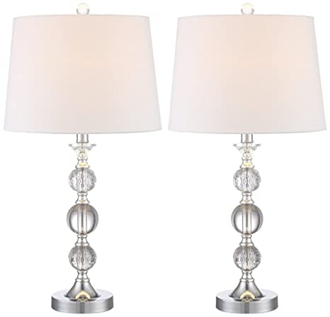 Solange Crystal Table Lamps Set Of 2 Amazon Com