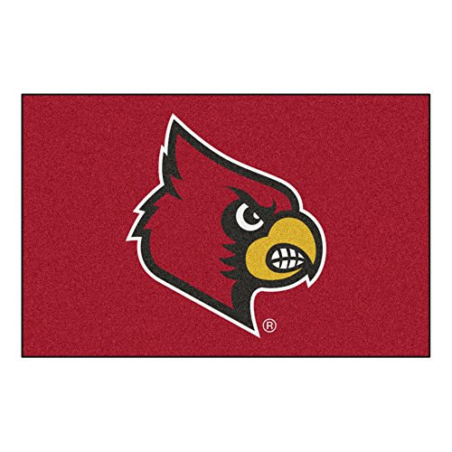 - FANMATS NCAA University of Louisville Cardinals Nylon Face Starter Rug