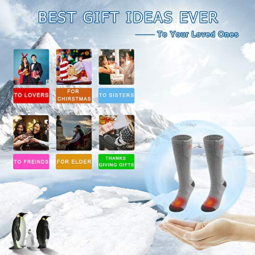 9649d2ab4c Thick Crew Socks Winter Cotton Socks for Men Women Electric Heated Socks  Rechargeable Battery Powered Extra
