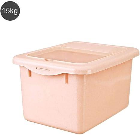 Caja sellada de arroz de 10 kg con caja de almacenamiento hermética hermética de plástico hermética