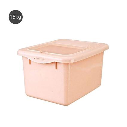 Caja sellada de arroz de 10 kg con caja de almacenamiento hermética  hermética de plástico hermética d50a5cddee6