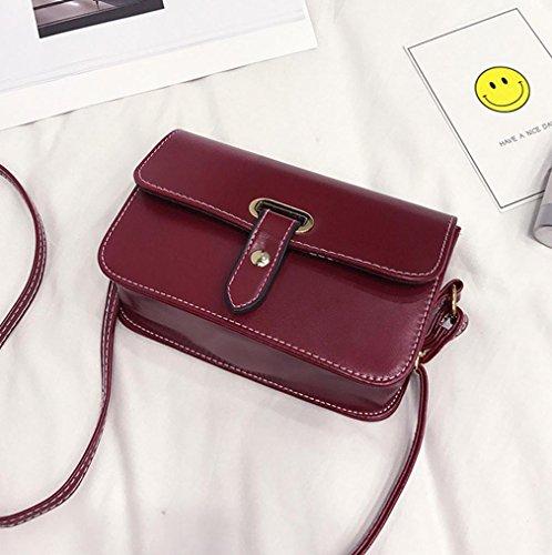 BZLine® Mädchen Frauen Retro Tasche Crossbody Schultertasche Handtasche Rot