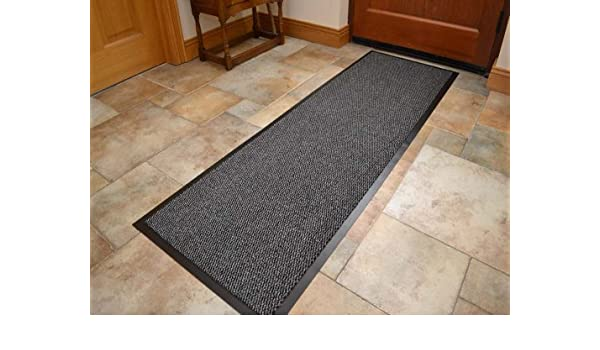60cm x 120cm Available in 8 sizes Machine Washable Grey Non Slip Hard Wearing Barrier Mat