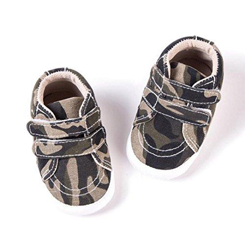 IGEMY Kleinkind Baby Schuhe, Mädchen Jungen Tarnung weiche rutschfeste Segeltuch Schuhe Tarnung