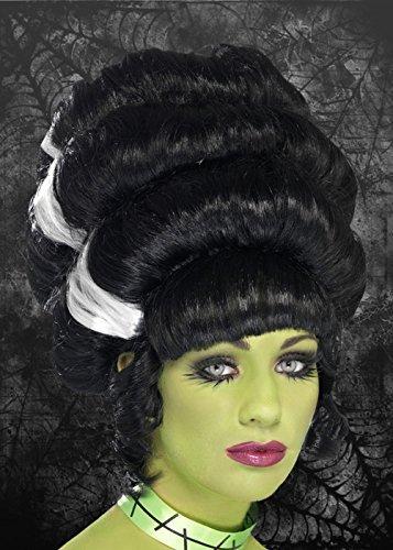 Diseño de noche de brujas reloj de mujer con esfera cartucho de tinta negra Frankenstein y