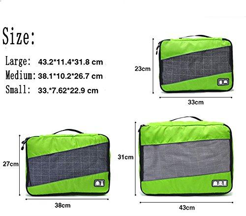 Ubagoo Packing Cubes Travel Luggage Bag Organisers Underwear ...