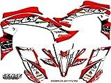 Senge Graphics 2003-2008 Yamaha YFZ 450 (Steel Frame), 13 Fly Racing Red Graphics Kit