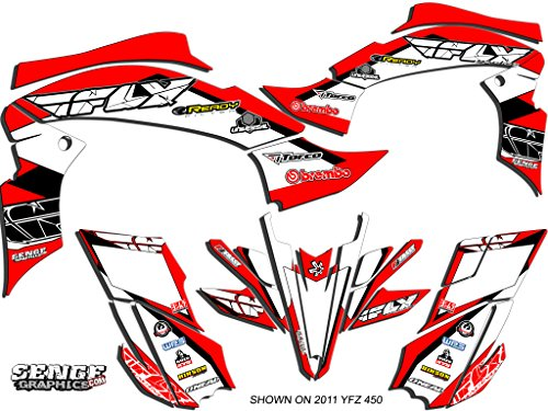 Senge Graphics All Years Yamaha Raptor 90, 13 Fly Racing Red Graphics Kit