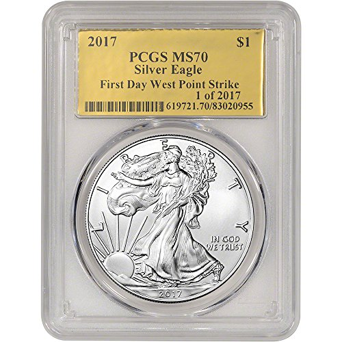 2017-american-silver-eagle-1-oz-first-day-issue-gold-foil-label-1-of-2017-1-ms70-pcgs