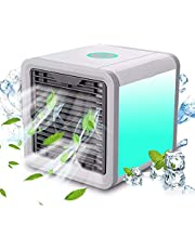 XAMTOU Portable Air Conditioner, Air Cooler Fan with 3 Speeds 7 Colors, Personal Air Cooler with Humidifier Air Purifier, Mini AC Unit for Room, Home, Office, Dorm