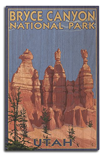 (Lantern Press Bryce Canyon National Park, Utah - Summer #2 (10x15 Wood Wall Sign, Wall Decor Ready to Hang))