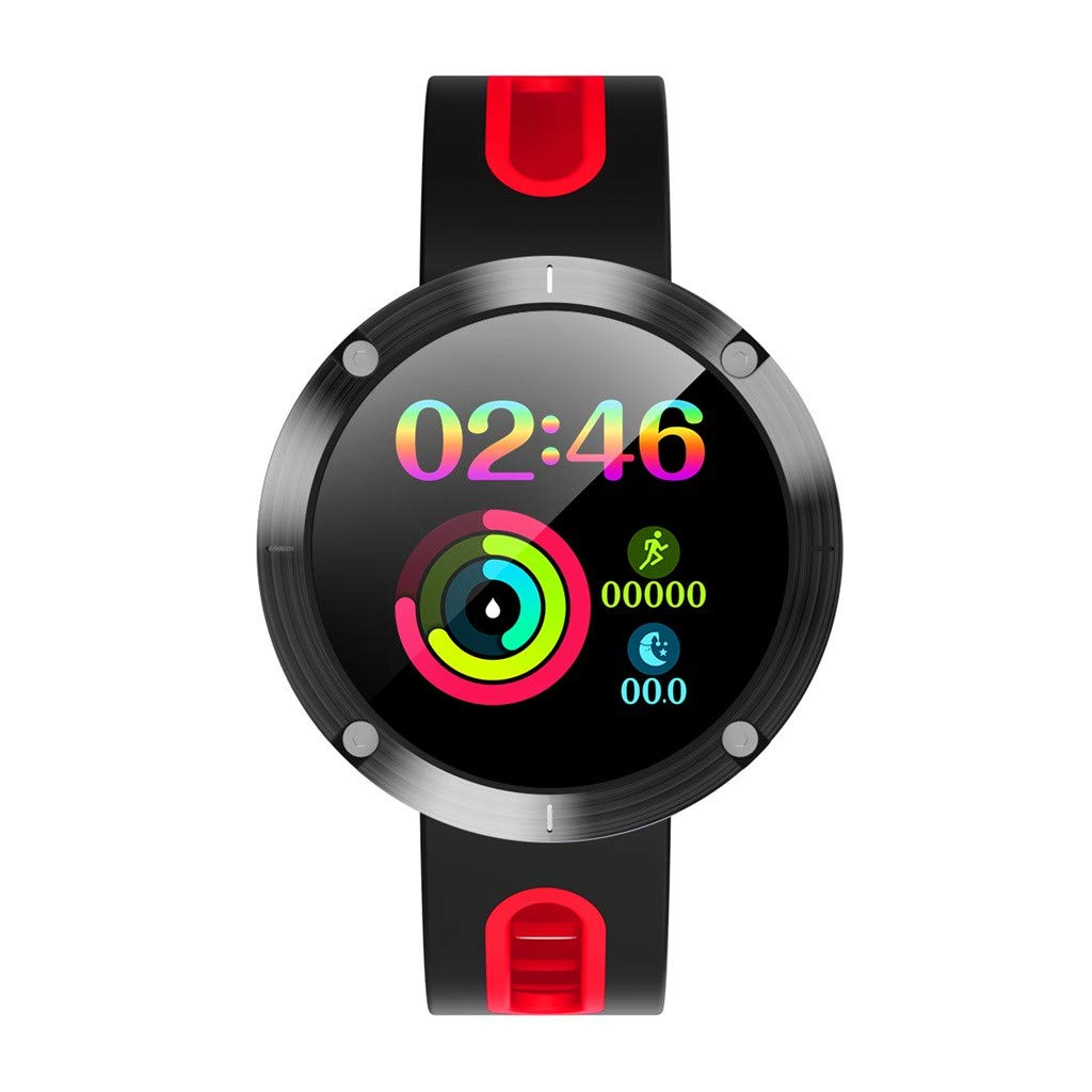 GXOK DM58 Plus Smart Watch for Male Female with Heart Rate Monitoring Bluetooth Sports Smart Watch (Red) by GXOK