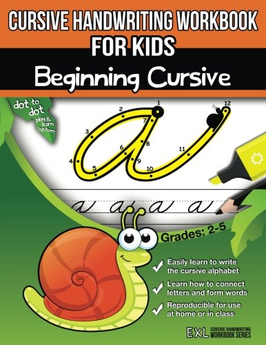 Cursive Handwriting Workbook for Kids: Beginning Cursive cover