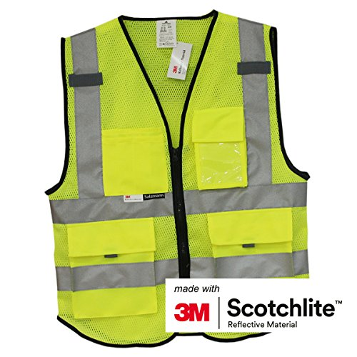 Salzmann 3M Multi Pocket Safety Vest Meets ANSI/ISEA107, 2XL/3XL+; New Size Chart from - Chart Size Card