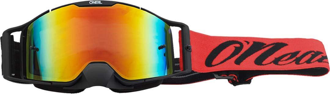 O Neal B30 Reseda Goggle Mx Dh Brille Schwarz Rot Radium Rot Oneal Auto