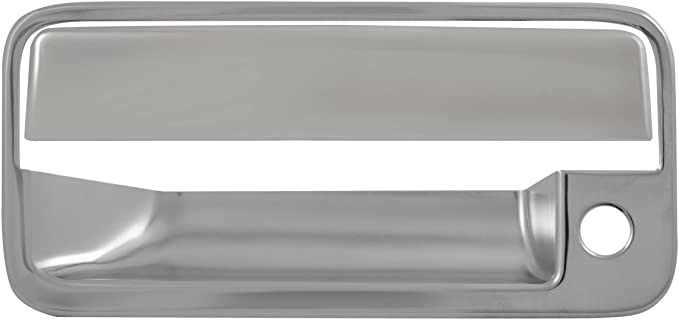 Pack of 4 Bully DH68525B Chrome Door Handle Cover Without Passenger Side Keyhole