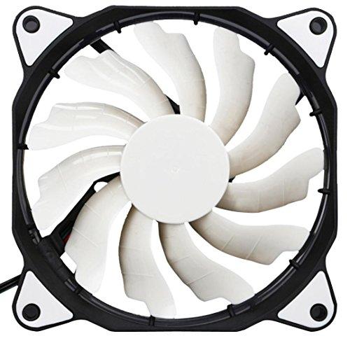 80mm fan white led - 5