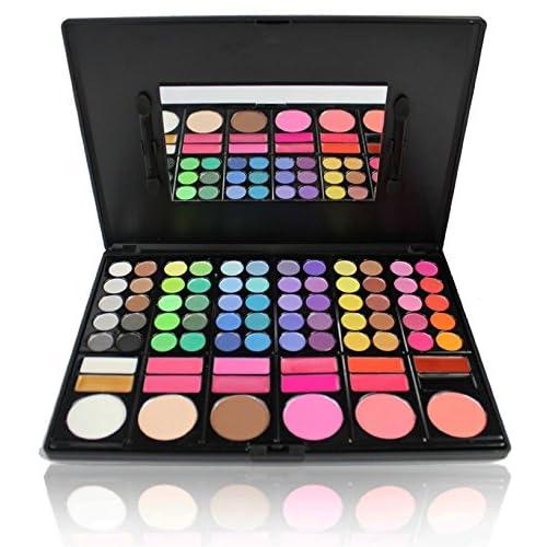 Pure Vie® 78 Couleurs Fard à Paupières Palette de Maquillage Cosmétique Set - Convient Parfaitement pour une Utilisation Professionnelle ou à la Maisons