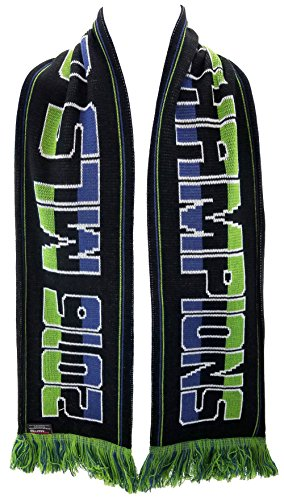 Seattle Sounders 2016 MLS Cup Champions Scarf - 4 Designs - Official MLS Scarf (Bold)