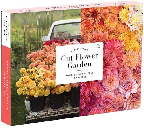 Galison Floret Farm's Cut Flower Garden Two-Sided Puzzle, 500 Pieces, 24