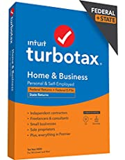 TurboTax Home & Business 2020 Desktop Tax Software, Federal and State Returns + Federal E-file (State E-file Additional) [Amazon Exclusive] [PC/Mac Disc]