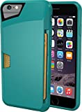 """iPhone 6/6s Wallet Case - Vault Slim Wallet for iPhone 6/6s (4.7"""") by Silk - Ultra Slim Protective Phone Cover (Pacific Green)"""