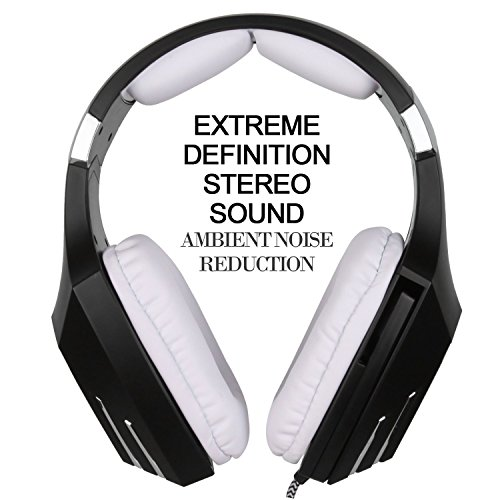 SADES A60/OMG Gaming Headset Over Ear Stereo Surround Sound Heaphones with Microphone Noise Isolating Volume Control LED…