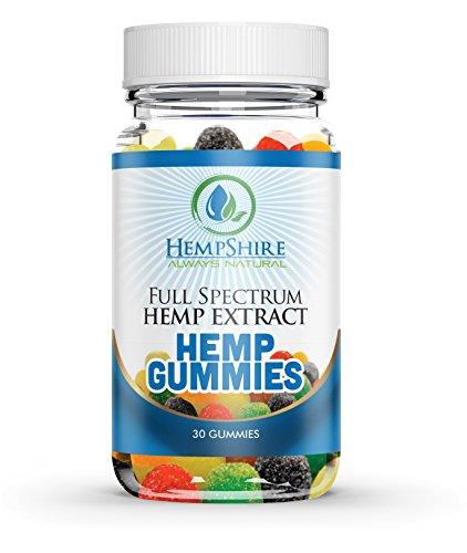 30ct Premium Hemp Gummies - 10mg Per Gummy | Full Spectrum Organic Hemp Extract | 300mg Per Bottle | Relief for Stress, Pain, Sleep, Anxiety | Vitamin E | Vitamin B | Omega 3,6, 9
