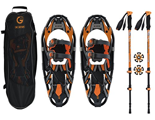 Go2gether Snowshoes Kit for Adult (30 inches, Optimized Weight Range up to 250lb)