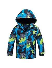 ACESTAR Windproof Light Rain Jacket Coat Fleece Lined Spring Jacket Windbreaker