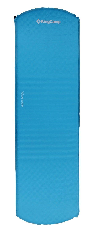 Kingcamp Uni Wave Super Selbstaufblasbare Isomatte, Blau, 183 x 51 x 3.8 cm