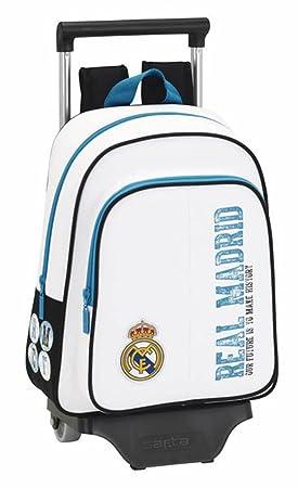 Safta - Mochila Infantil, Real Madrid con Carro, 34 cm, Multicolor: Amazon.es: Equipaje