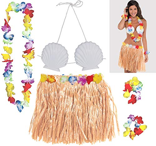 amscan Shell Adult Size Hula Skirt Party Kit]()