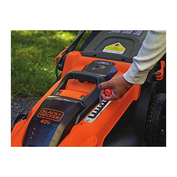 BLACK+DECKER 40V MAX Cordless Lawn Mower, 20-Inch (CM2043C) 8 Two 40V max Lithium ion batteries are included for twice the runtime Mulching, bagging and side discharge of grass clippings gives you 3-in-1 versatility Mow right up to edges and spend less time trimming thanks to the edgemax design