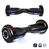 6.5' inch Chrome Hoverboard Electric Smart Self Balancing Scooter With Built-In Bluetooth Speaker LED Wheels and LED Side Lights- UL2272 Certified