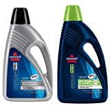 Bissell 78H6B Deep Clean Pro 2X Deep Cleaning Concentrated Formula, 48 ounces and BISSELL 2X Pet Stain & Odor Full Size Machine Formula, 60 ounces, 99K5A Bundle