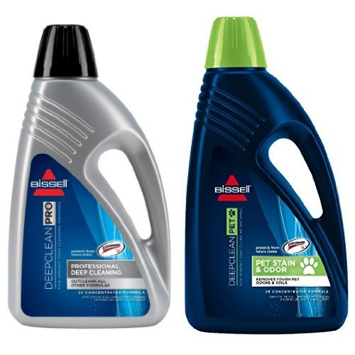 Bissell 78H6B Deep Clean Pro 2X Deep Cleaning Concentrated Formula, 48 ounces and BISSELL 2X Pet Stain & Odor Full Size Machine Formula, 60 ounces, 99K5A (48 Ounce Carpet Cleaner)