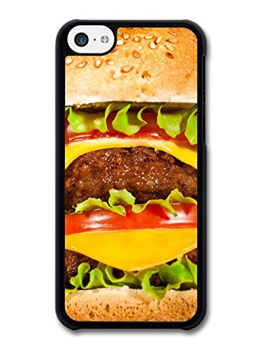 Food Fatty Burger with Meat Cheese Tomato Salad Funny coque pour iPhone 5C