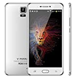Cell Phones Unlocked 4g LTE, v mobile A9+, Android Unlocked Smartphones Dual Sim with 6 inch 18:9 Full Screen, 1280 x 720 Display|1 GB +16 GB|Dual Camera 5 MP +8 MP (White, 1GB+16GB)