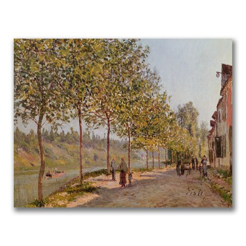 June Morning In Saint-Mammes by Alfred Sisley, 35x47-Inch Canvas Wall Art