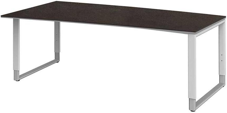 Escritorio de altura regulable de 200 cm de ancho Pharao24: Amazon ...