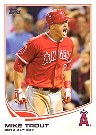 2013 Topps 338 Mike Trout Baseball Card Wins 2012 Rookie Of The Year Award