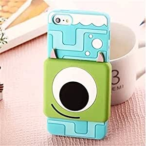 Lovestal Cute Cartoon 3D Pixar Finding Nemo Clownfish Soft Silicone Back Case Cover for Apple iPhone 5 5G ipod touch4 + 1psc Lovestal Wristband (Mike Wazowski)
