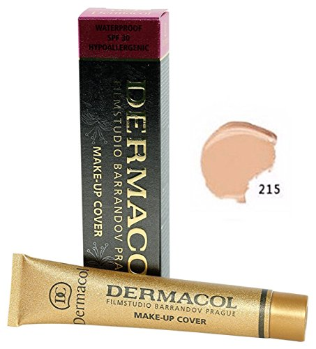 Dermacol Make - Up Cover Waterproof Hypoallergenic SPF 30 #215 by Dermacol ( Cover All Ance Scar and Tattoo)