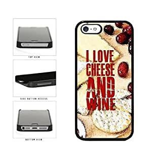 I Love Cheese and Wine Plastic Phone Case Back Cover Apple iPhone 6 4.7 includes diy case Cloth and Warranty Label
