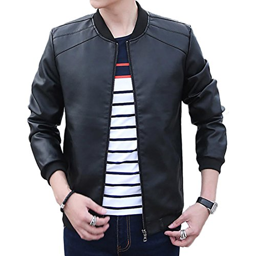 BINGKA Leather Bomber Lightweight Motorcycle