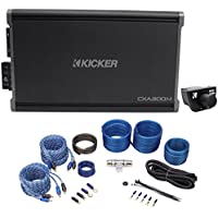 Package: Kicker 43CXA3004 300 Watt 4-Channel Amplifier + Kicker 43CXARC Remote Control For CX or PX SERIES Car Amplifiers + Rockville RWK82 8 Gauge 4 Channel Complete Wire Kit With RCA Cable