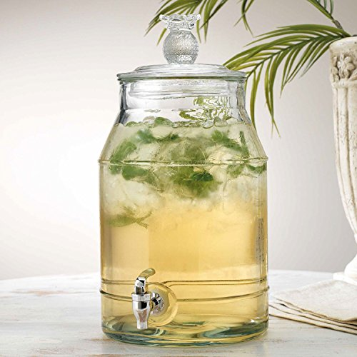 Classic Beverage Drink Dispenser Pineapple Durable Glass 2 Gallon with Spigot